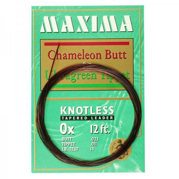 Maxima® Knotless Tapered Leader 12'