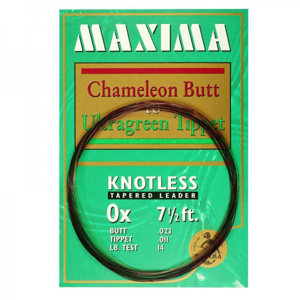 Maxima® Knotless Tapered Leader 7.5'
