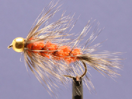 Wollyworm Dk. Orange/Grizzly